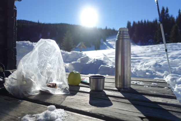Second breakfast at 10 at Gloggnitzer hut